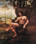 St. John in the Wilderness (Bacchus) by  Leonardo Da Vinci (Painting ID: DV-2116-KA)