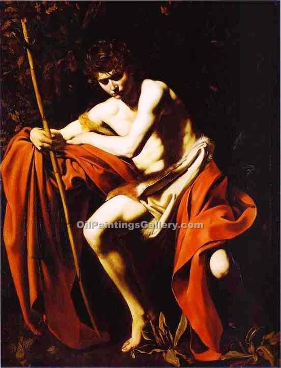 """St. John the Baptist 48"" by    Caravaggio"