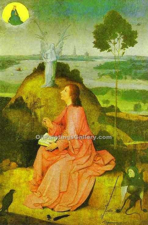 """St. John the Evangelist of Patmos"" by  Hieronymus Bosch"