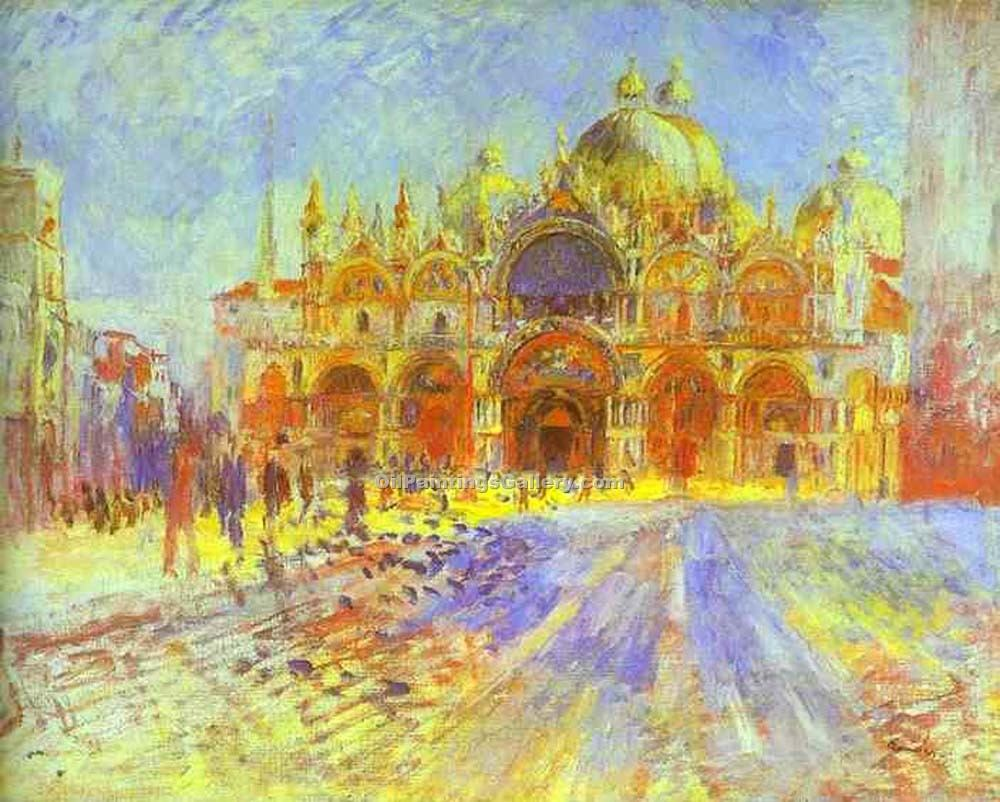 """St. Mark s Square, Venice"" by  Pierre Auguste Renoir"