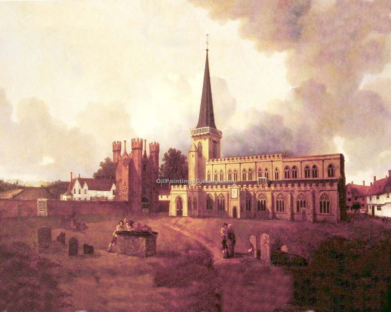 St Marys Church Hadleigh By Thomas Gainsborough Painting