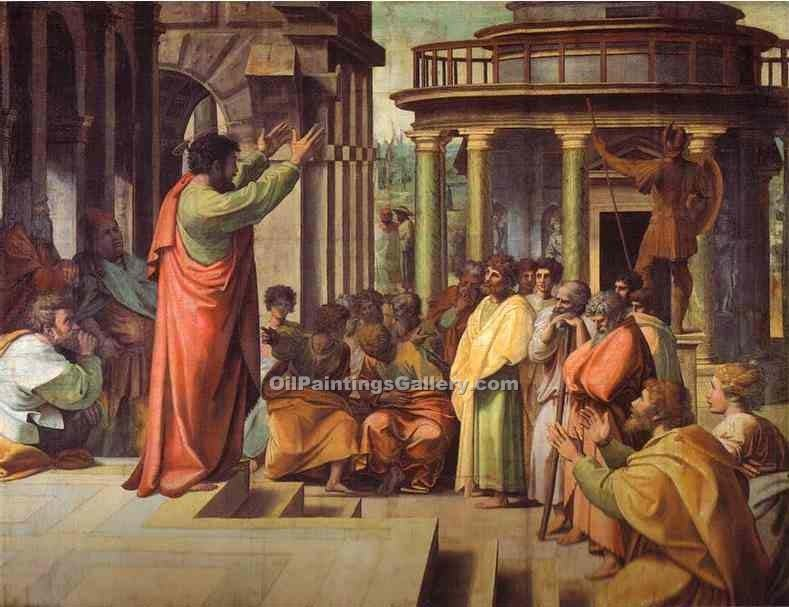"""St. Paul Preaching in Athens"" by  Sanzio Raphael"