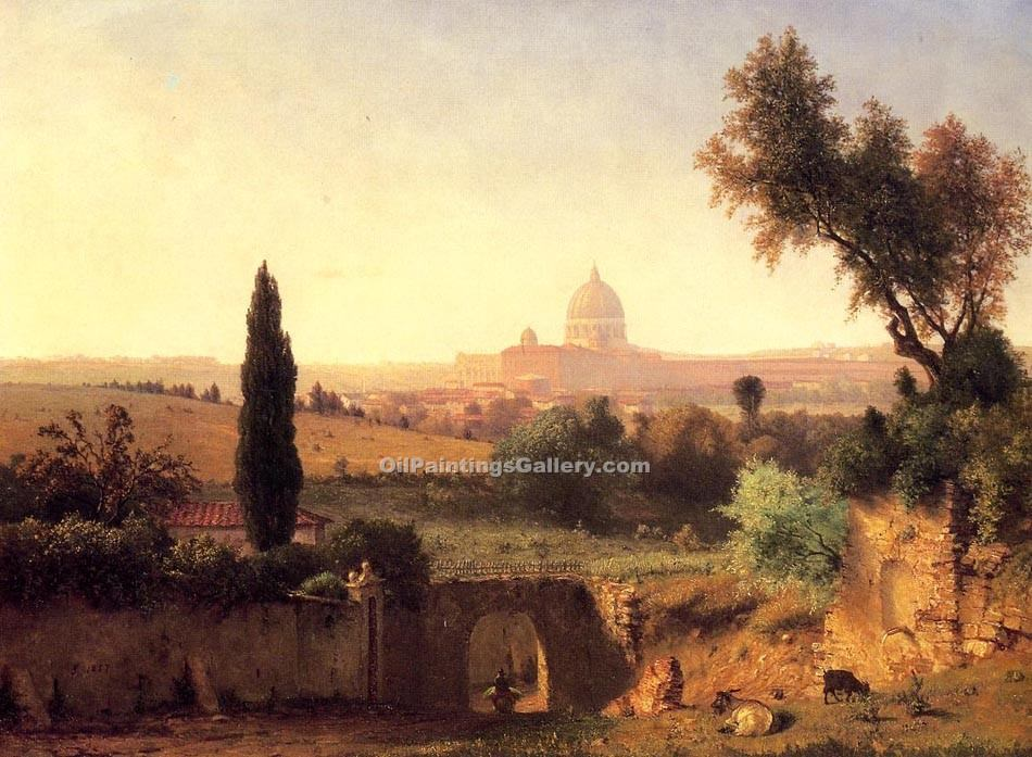 """St. Peter s Rome 64"" by  George Inness"