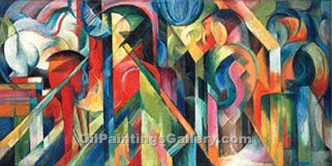"""Stables"" by  Franz Marc"
