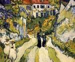 Stairway At Auvers  by  Vincent Van Gogh (Painting ID: VG-0250-KA)