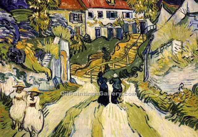 Stairway At Auvers by Vincent Van Gogh | Custom Made Paintings - Oil Paintings Gallery
