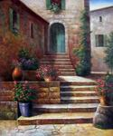 Stairway in Provence Oil Painting (ID: LA-1492-C)