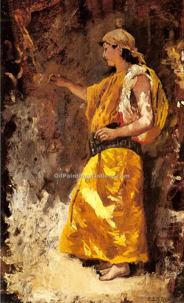 """Standing Arab Woman"" by  Edwin Lord Weeks"