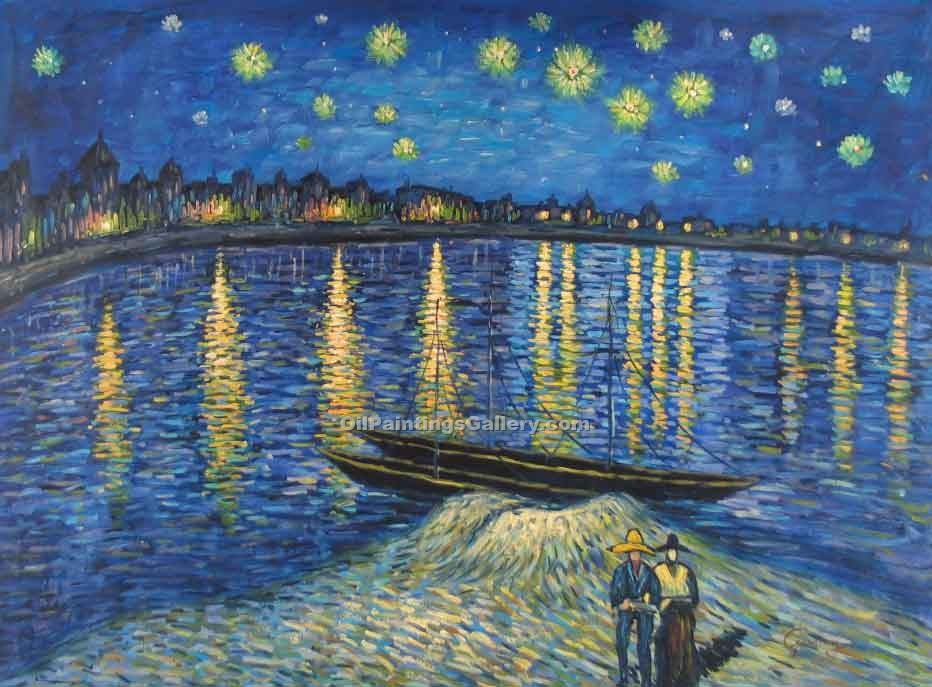 """Starlight Over the Rhone"" by  Vincent Van Gogh"