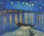 Starlight Over the Rhone by  Vincent Van Gogh (Painting ID: VG-0115-KA)