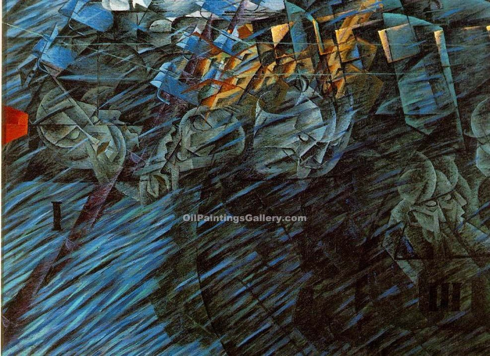 States of Mind those who go by Umberto Boccioni | Arts And Paintings - Oil Paintings Gallery