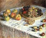 Still Life Apples and Grapes by  Claude Monet (Painting ID: SL-0098-KA)