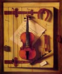 Still Life Violin and Music by  William Michael Harnett (Painting ID: GA-0442-KA)