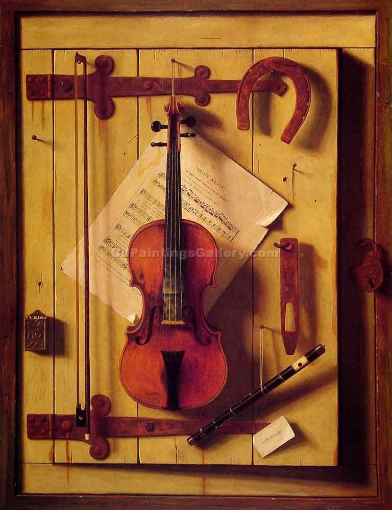 """Still Life Violin and Music"" by  William Michael Harnett"