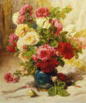 Still Life of Roses by  Georges Jeannin (Painting ID: SL-0005-KA)