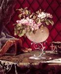 Still Life with Apple Blossoms in a Nautilus Shell by  Martin Johnson Heade (Painting ID: SL-1111-KA)