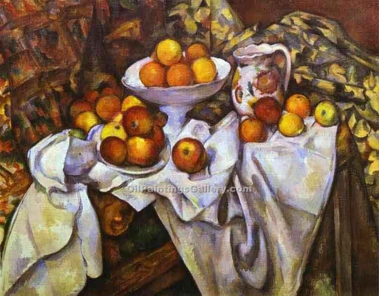 """Still Life with Apples"" by  Paul Cezanne"