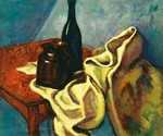 Still Life with Blue Glass Bottle by  Lajos Tihanyi (Painting ID: CO-0007-KA)