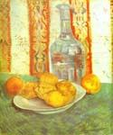 Still Life with Bottle and Lemons on a Plate by  Vincent Van Gogh (Painting ID: VG-0388-KA)
