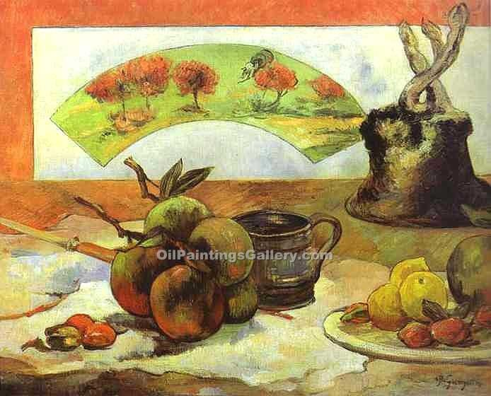 """Still Life with Fan"" by  Paul Gauguin"