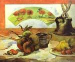 Still Life with Fan by  Paul Gauguin (Painting ID: GA-0418-KA)