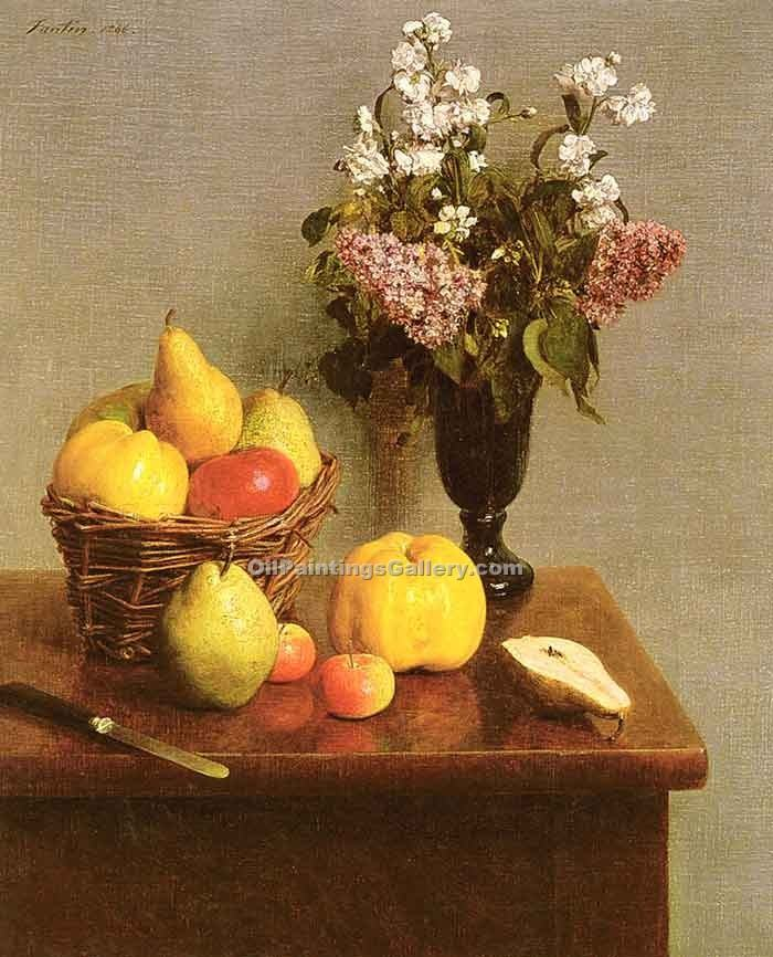 """Still Life with Flowers and Fruit"" by  Henri Fantin Latour"
