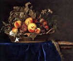 Still Life with Fruit Basket by  Willem van Aelst (Painting ID: SL-0252-KA)