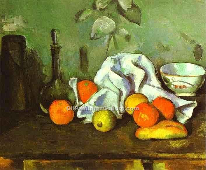 """Still Life with Fruit"" by  Paul Cezanne"