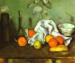 Still Life with Fruit by  Paul Cezanne (Painting ID: SL-2124-KA)