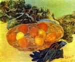 Still Life with Gloves and Pine Branch by  Vincent Van Gogh (Painting ID: VG-0386-KA)