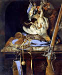 Still Life with Hunting Equipment and Dead Bird by  Willem van Aelst (Painting ID: SL-0254-KA)