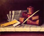 Still Life with Letter to Thomas B Clarke by  William Michael Harnett (Painting ID: GA-0462-KA)