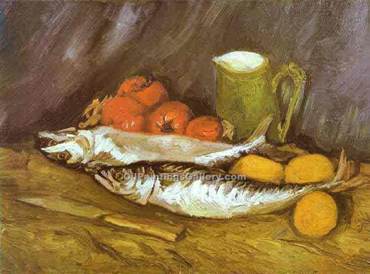 """Still Life with Mackerels"" by  Vincent Van Gogh"