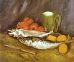 Still Life with Mackerels by  Vincent Van Gogh (Painting ID: VG-0384-KA)