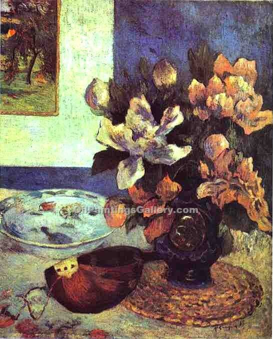 Still Life with Mandolin by Paul Gauguin | Contemporary Abstract Artists - Oil Paintings Gallery