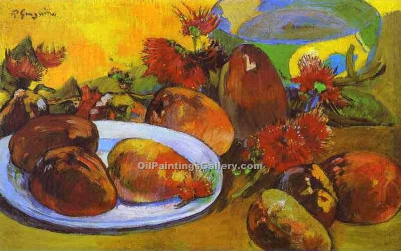 Still Life with Mangoes by Paul Gauguin | Famous Artists Paintings - Oil Paintings Gallery
