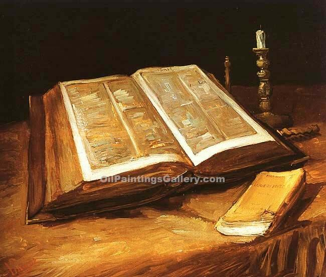 """Still Life with Open Bible"" by  Vincent Van Gogh"