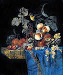 Still Life with Peaches and Bird by  Willem van Aelst (Painting ID: SL-0240-KA)