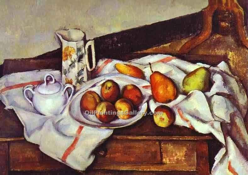 """Still Life with Peaches and Pears"" by  Paul Cezanne"