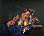 Still Life with Pomegranite by  Willem van Aelst (Painting ID: SL-0256-KA)