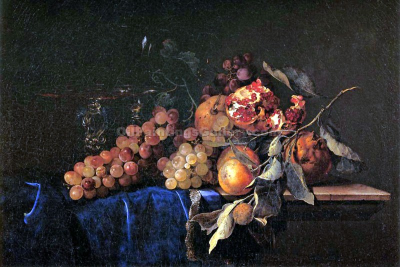 """Still Life with Pomegranite"" by  Willem van Aelst"