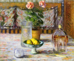 Still Life with Three Lemons by Theodore Earl Butler (Painting ID: SL-0133-KA)