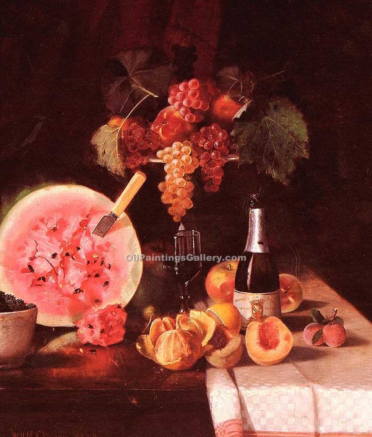 """Still Life with Watermelon"" by  William Merritt Chase"