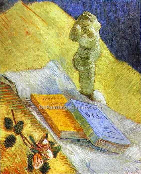 """Still Life with a Statuette"" by  Vincent Van Gogh"