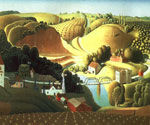 Stone City, Iowa by  Grant Wood (Painting ID: LA-2846-KA)