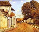 Street in Louveciennes by  Alfred Sisley (Painting ID: LA-0317-KA)
