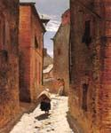 Street in the Old Town by  Alphonse de Neuville (Painting ID: CL-2799-KA)