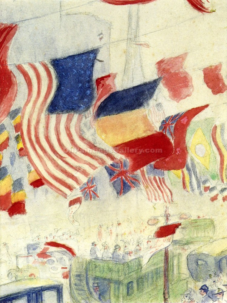 """Study of Flags"" by Theodore Earl Butler"