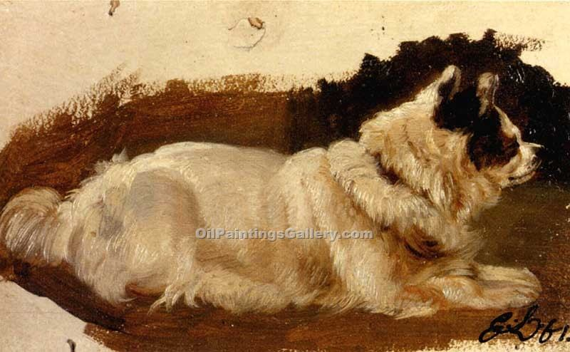 """Study of a Chow"" by  Sir Edwin Henry Landseer"