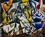Subject From a Dyers Shop by  Lyubov Popova (Painting ID: AB-8472-KA)